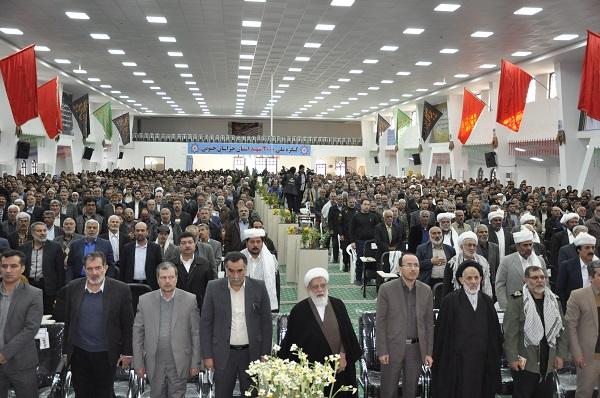 حضور پور شور کشاوزران شهرستان بشرویه در  اجلاسیه شهدای کشاورز استان