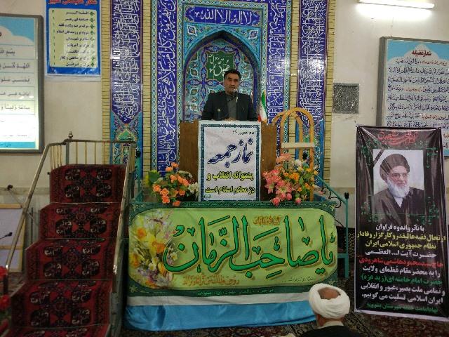 سخنرانی ریاست سازمان در جمع نمازگزاران نماز جمعه و تشریح دستاوردهای پیروزی انقلاب اسلامی در حوزه بخش کشاورزی